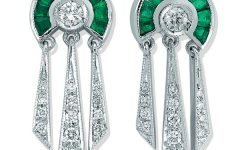 Melis Goral Paris emerald earrings