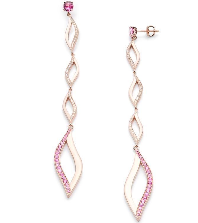 Jordana Adrienne pink sapphire earrings
