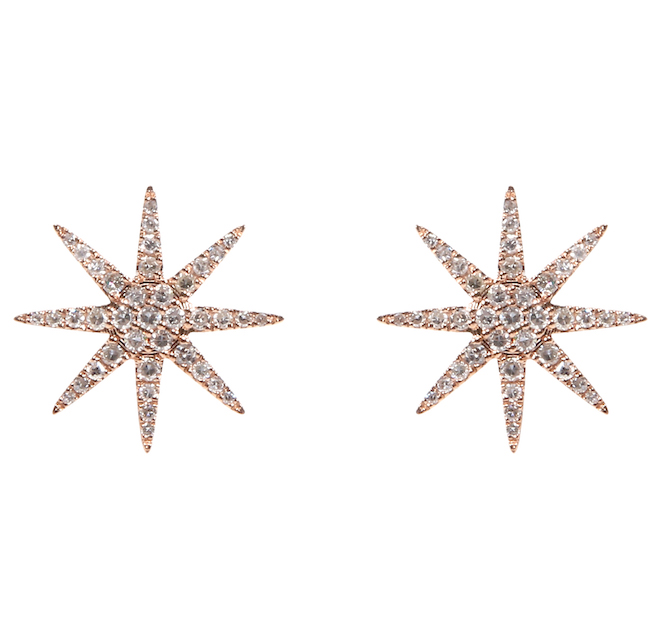 Djula diamond sun earrings