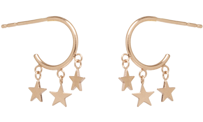 Zoe Chicco Itty Bitty star earrings
