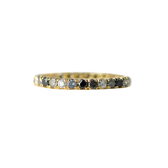 Elliot Gaskin Ombre Gray Diamond Ring