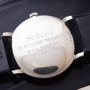 Elvis Presley Omega watch auction