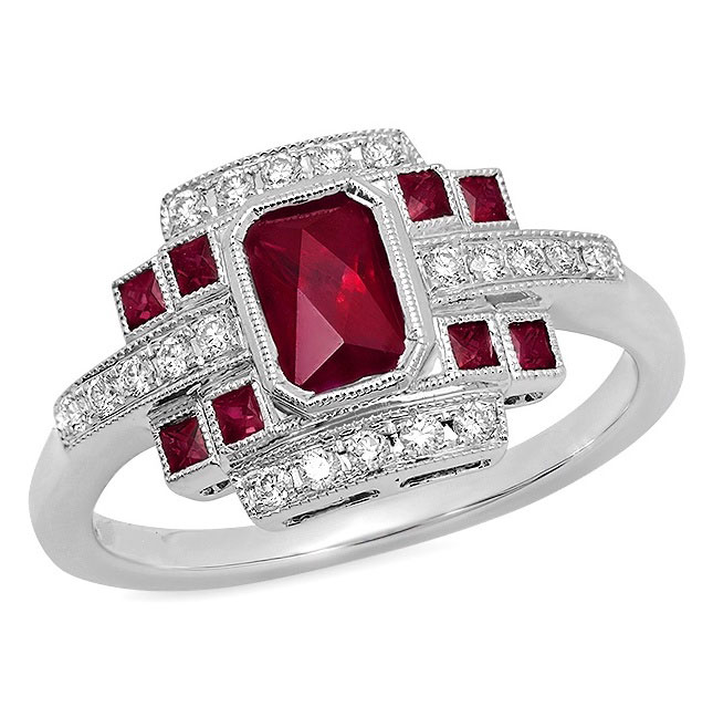 Beverley K ruby engagement ring