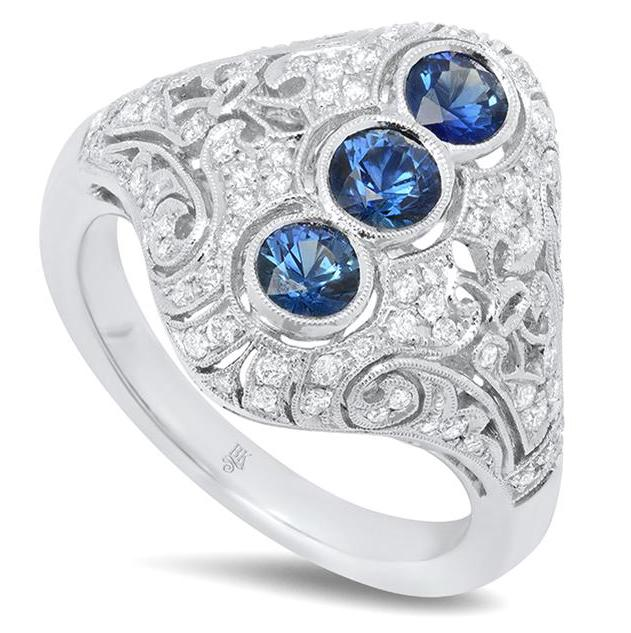 Beverley K vintage inspired sapphire ring