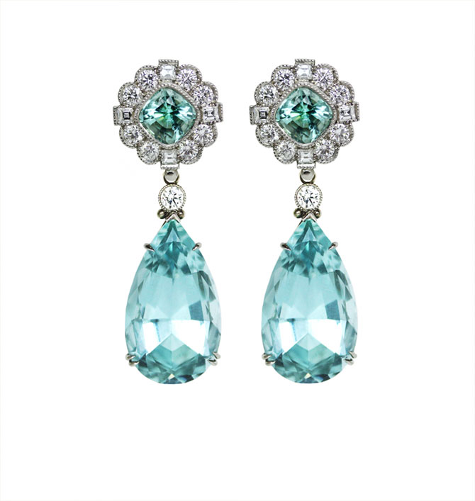 Featherstone Design Aqua Earrings