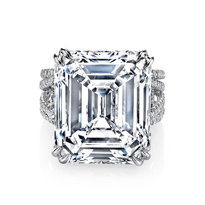 Harry Kotlar Emerald Cut Diamond Ring