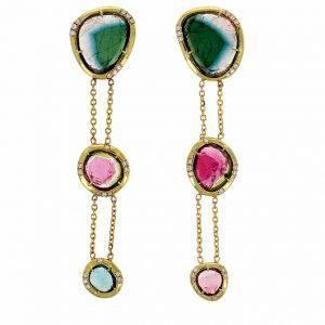 IO Collective watermelon tourmaline earrings