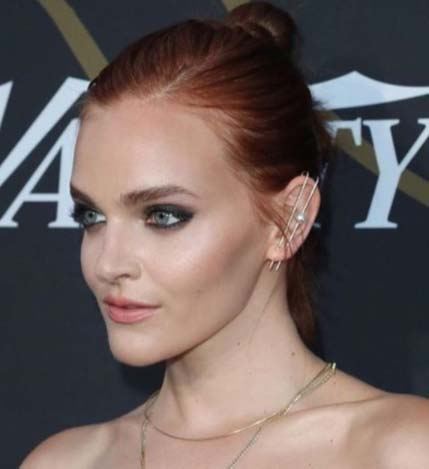 Madeline Brewer KatKim ear thread pin