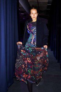 Paul Smith aw18 show flowered dress