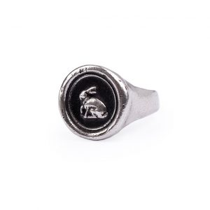 Paul Smith rabbit talisman signet ring