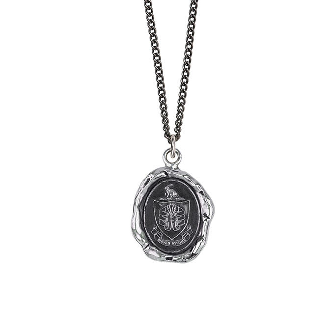 Paul Smith crest talisman necklace