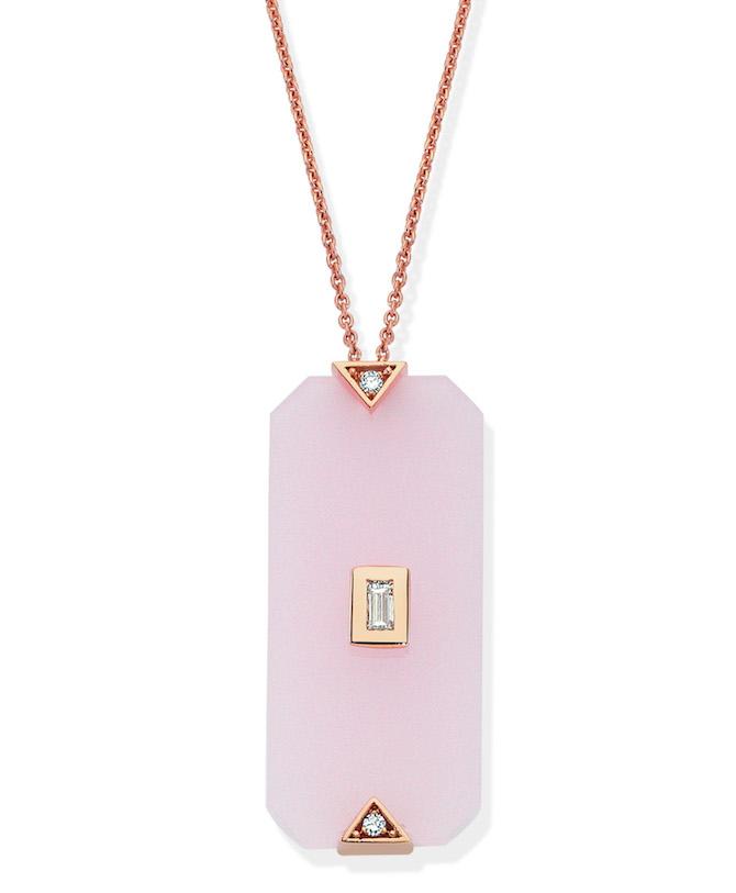 Melis Goral pink quartz pendant