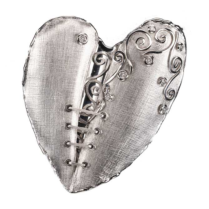 Platinum Mended Heart by Alishan