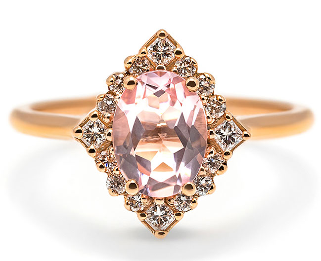 Porter Gulch morganite ring