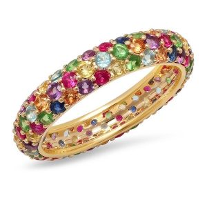 Eriness multicolor gemstone band