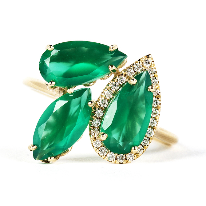 Suzanne Kalan Soleil emerald cluster ring