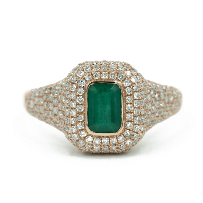 Andrea Groussman emerald pinky ring
