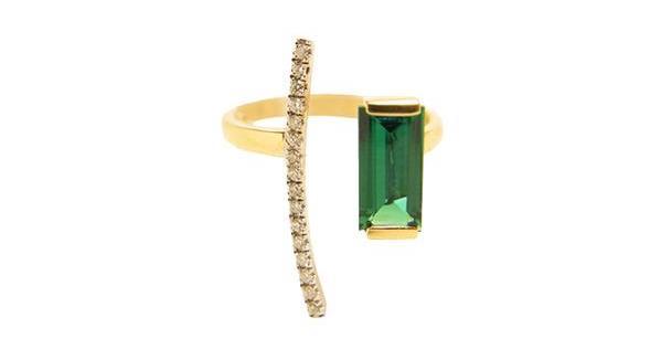 Porter Lyons emerald Ritual ring