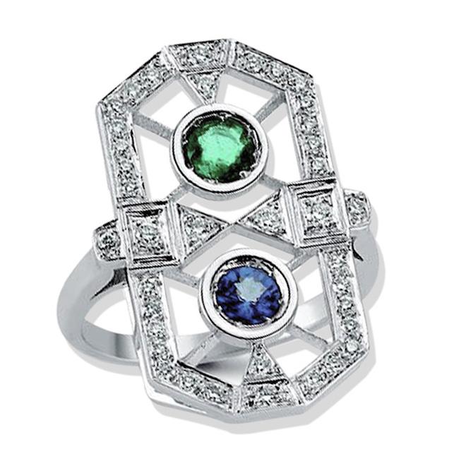 Melis Goral Paris multicolor ring