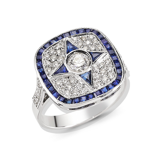 Melis Goral sapphire Paris ring
