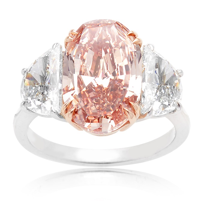 William Noble pink diamond ring