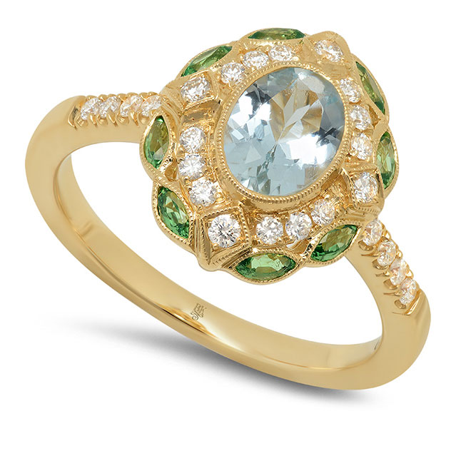 Beverley K aquamarine ring