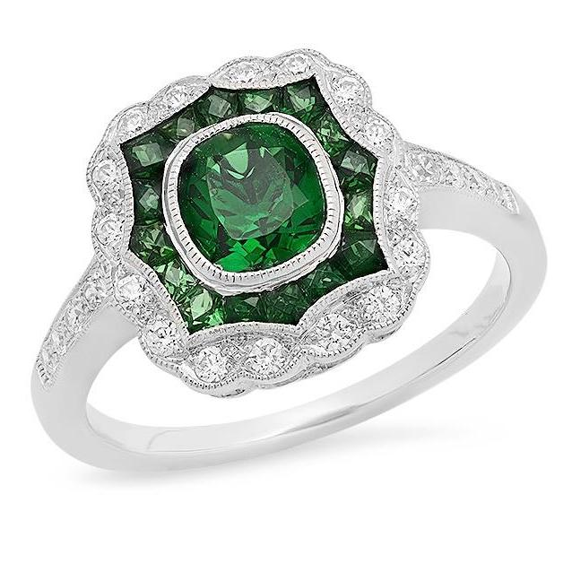 Beverley K emerald vintage inspired ring