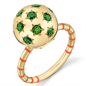 Sarah Hendler green ring striped jewelry trend