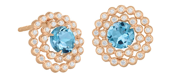 Suzy Landa Aquamarine Earrings