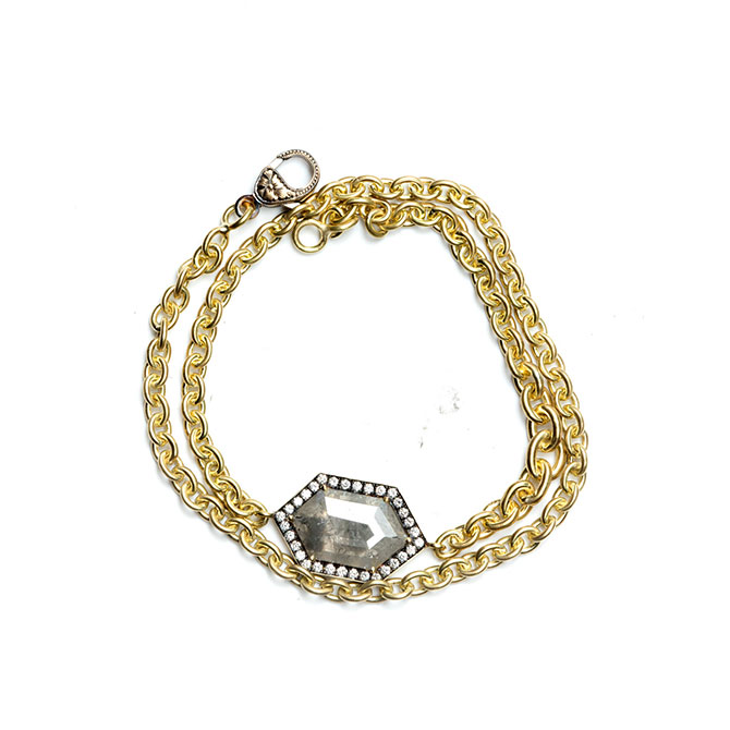 Sylva and Cie gray diamond bracelet