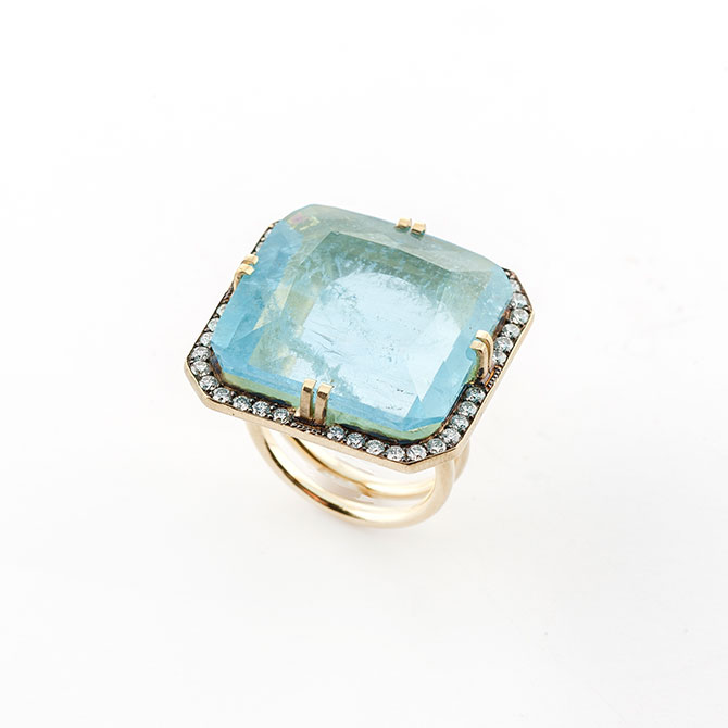 Sylva and Cie Aquamarine Ring