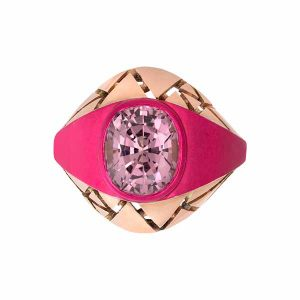 The Rock Hound Chromanteq Lilac Spinel Bombe ring