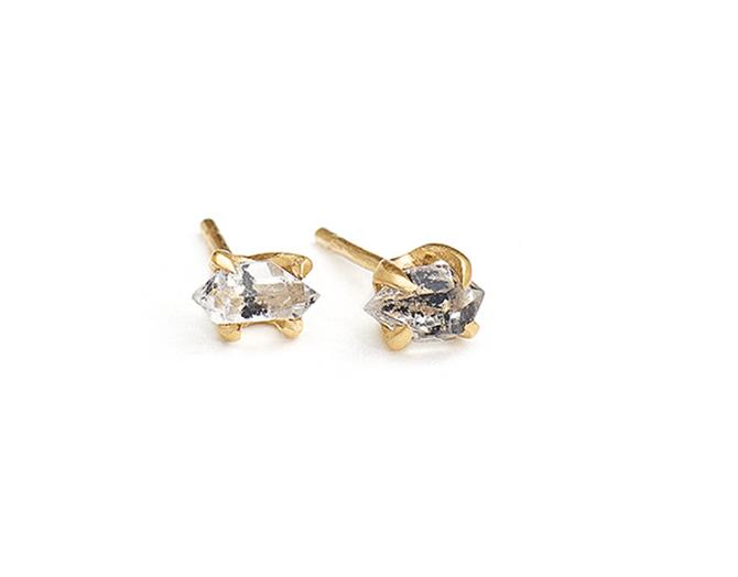 Vanessa Lianne Herkimer diamond studs