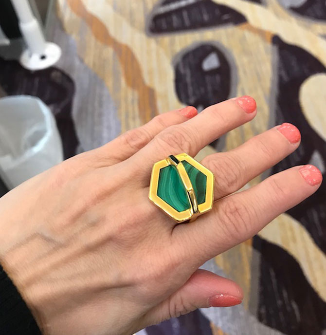 W Britt Malachite Ring