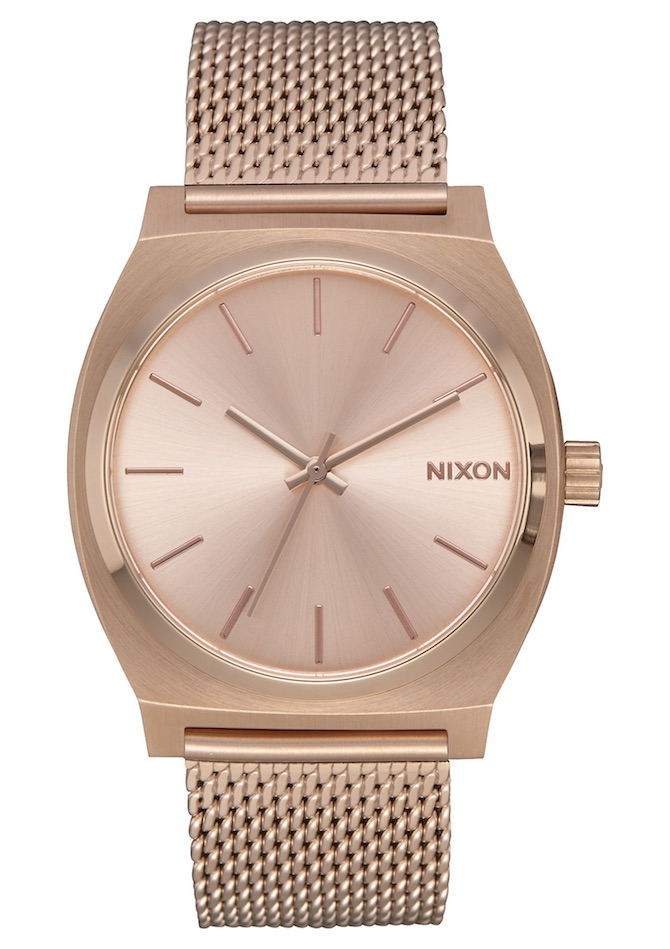 Nixon Milanese rose gold watch