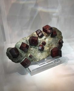 Large almandine garnet crystals in schist from Austria found at the Westward Look show in Tucson