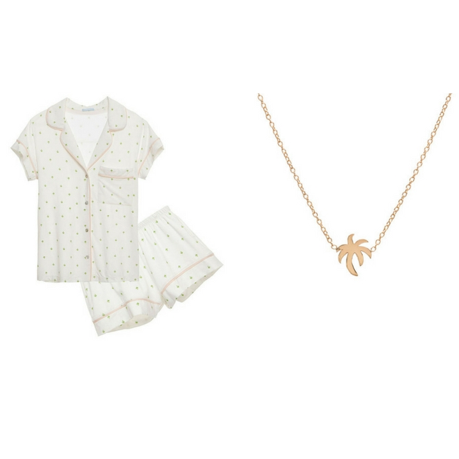 Ariel Gordon x Eberjey pajama necklace set