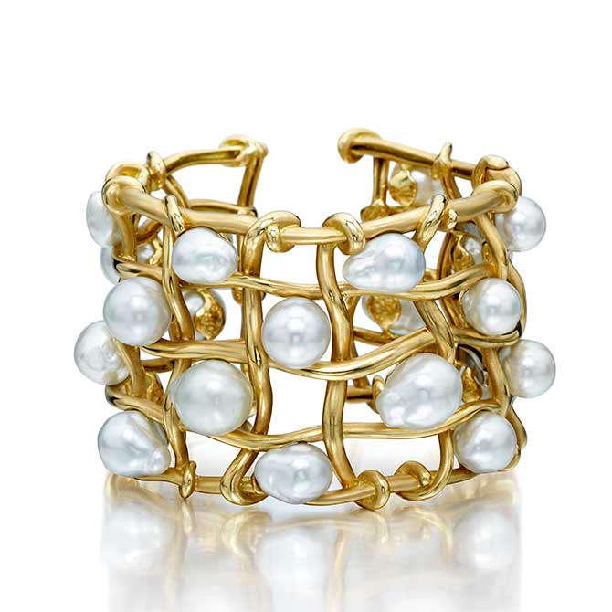 Assael pearl and gold bracelet