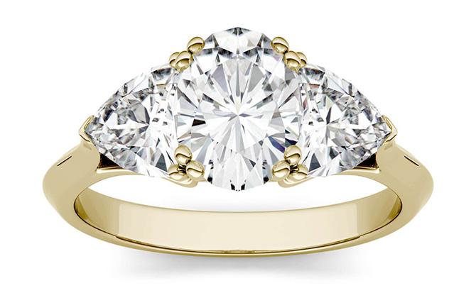Charles and Colvard moissanite 14k gold ring