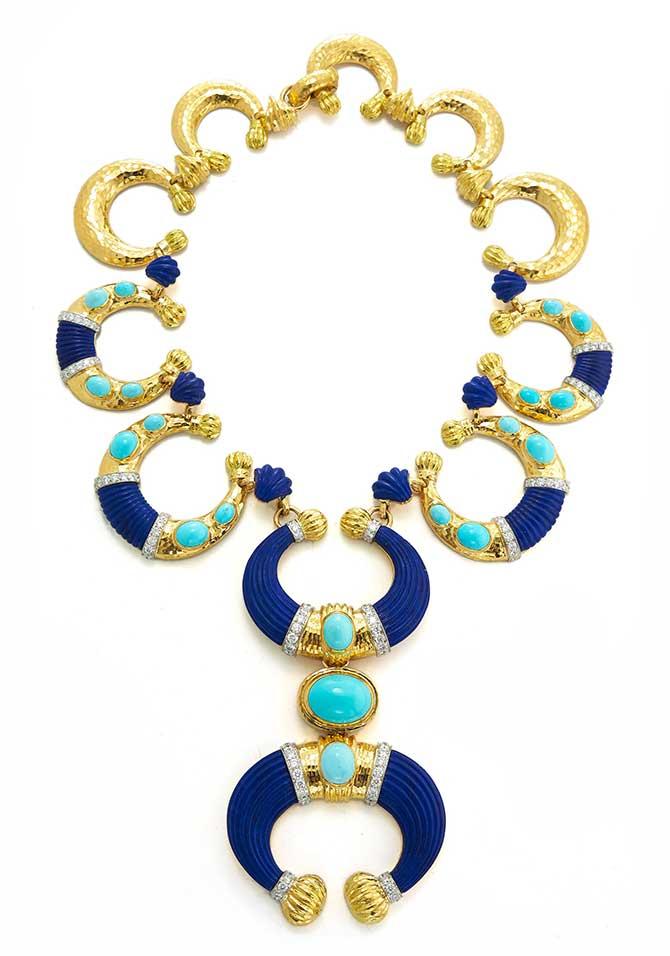 David Webb Crescent necklace