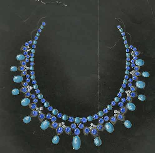 David Webb Doris Duke blue necklace