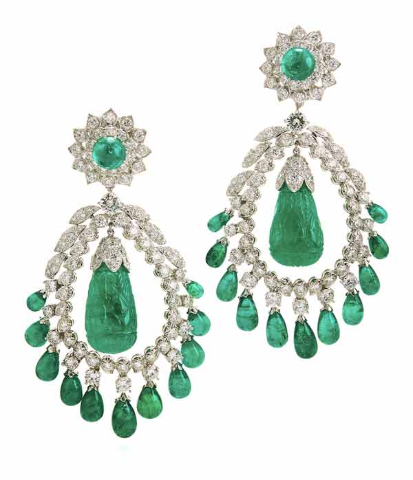 David Webb Doris Duke emerald earrings