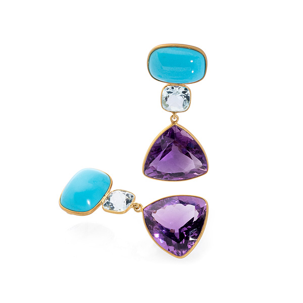 Bahina amethyst and turquoise necklace