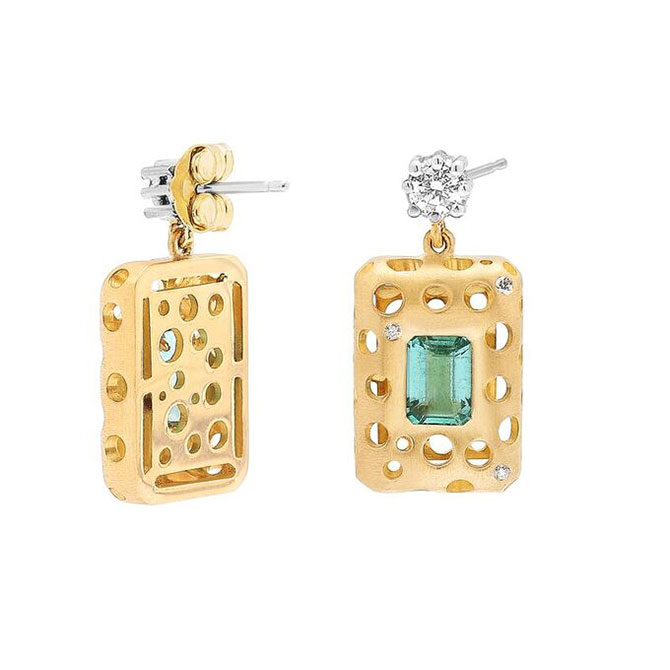Dana Bronfman Earth Treasure emerald earrings