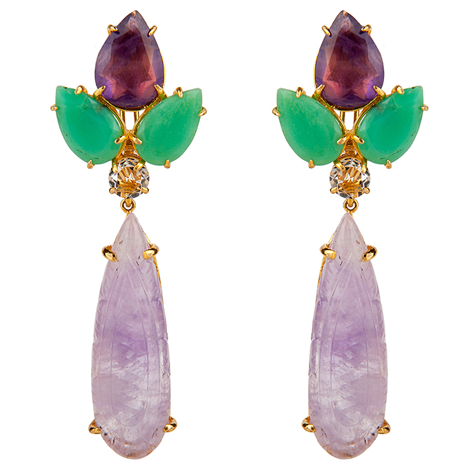 Bounkit amethyst earrings