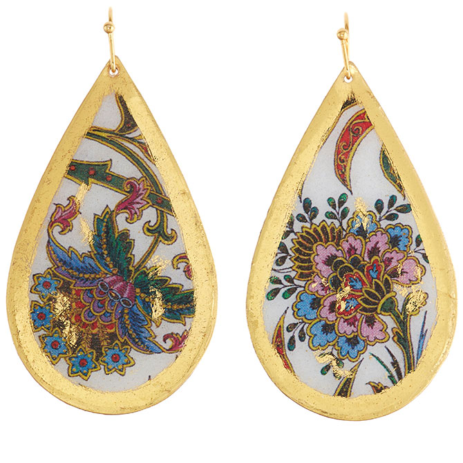 Evocateur Isabella teardrop earrings