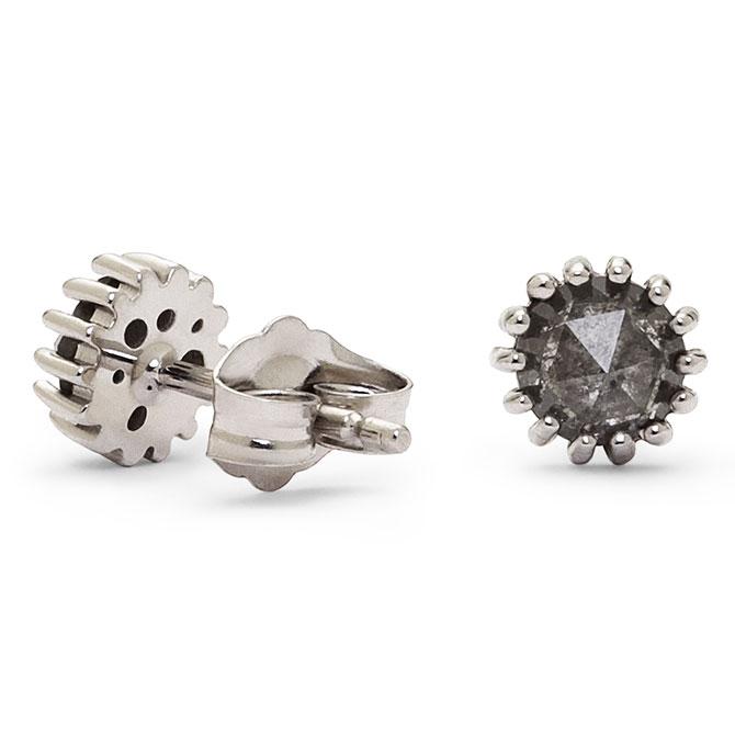Dana Bronfman rose-cut gray diamond earrings