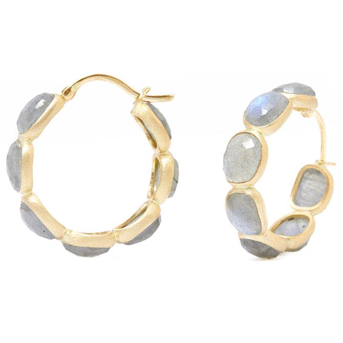 Nina Nguyen Legacy moonstone hoop earrings