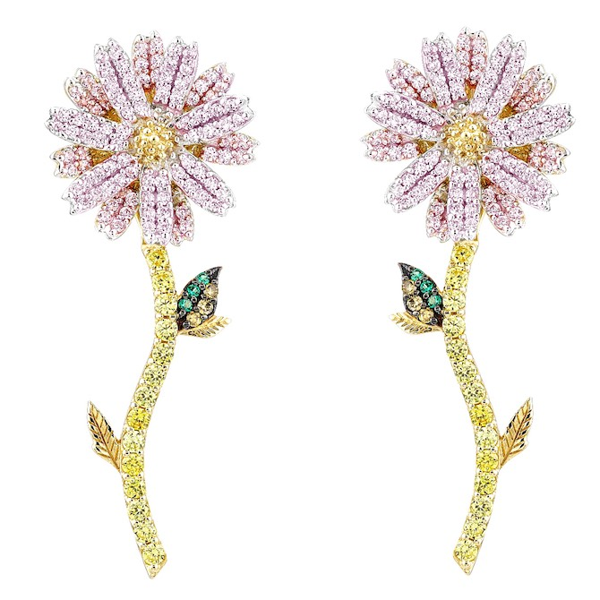 Anabela Chan daisy earrings