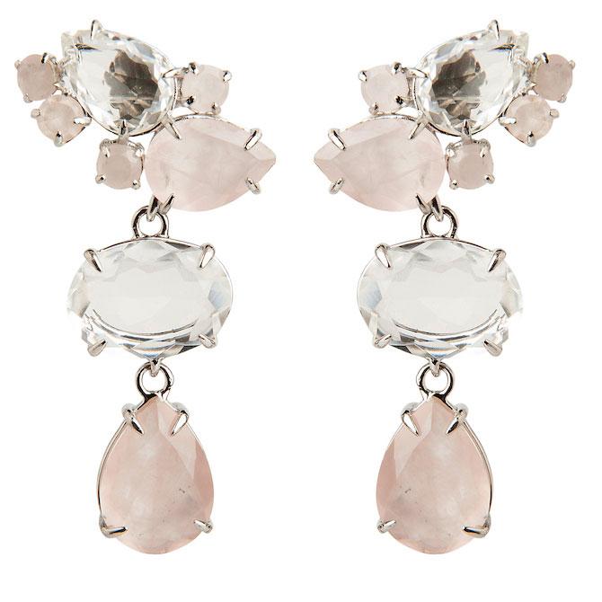 Bounkit quartz drop earrings
